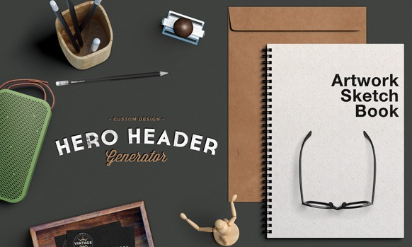 Hero / Header Scene MockUp