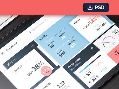 Freebie PSD - Dashboard