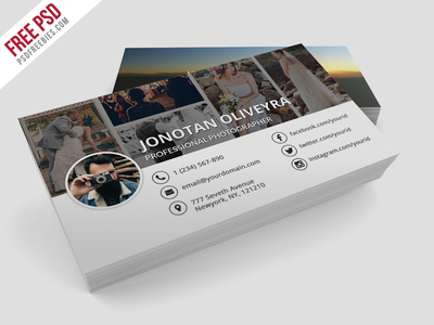 Freebie : Professional Photographer Business Card PSD