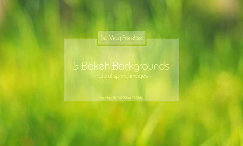 5 Spring Bokeh Backgrounds
