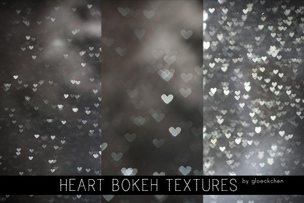 Heart Bokeh Textures.