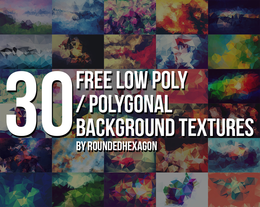 30 Free Polygonal/Low Poly Background Textures