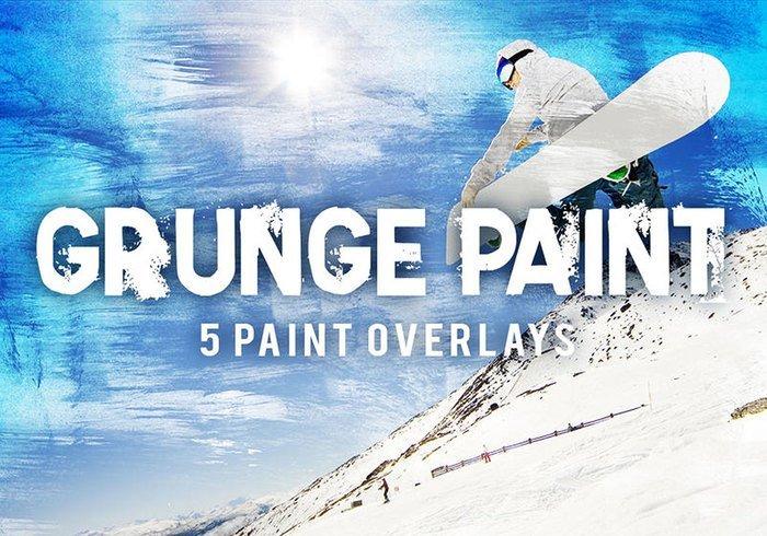 5 Grunge Paint Texture Overlays