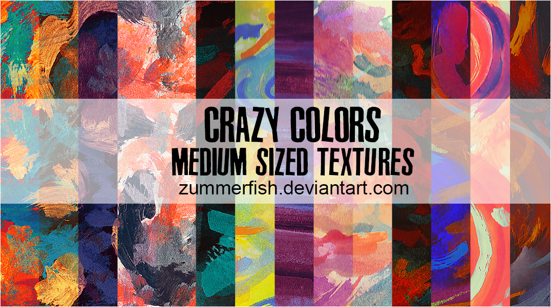 Crazy Colors Watercolor Textures