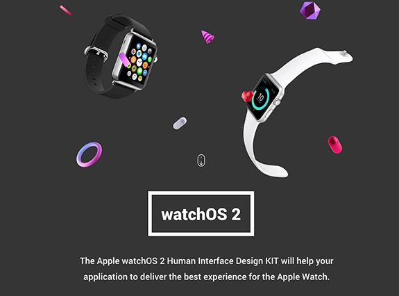 WatchOS 2 Human Interface Design Kit