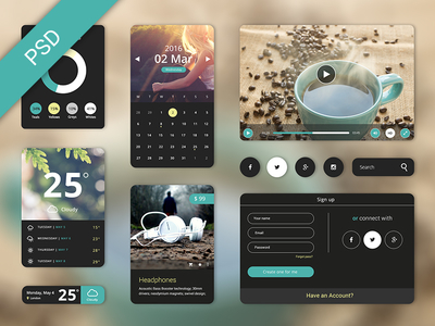 Free UI Starter Kit – Creama theme