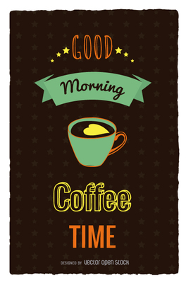 Coffe time retro poster