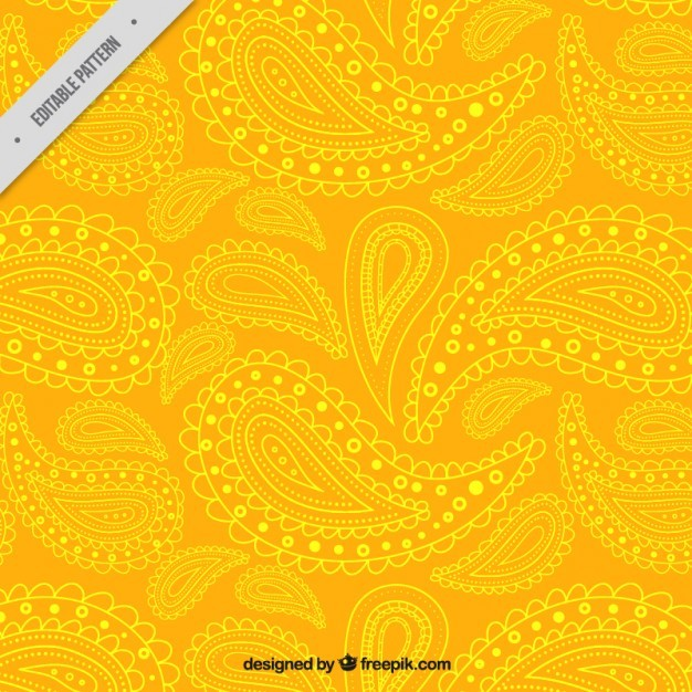Yellow paisley pattern