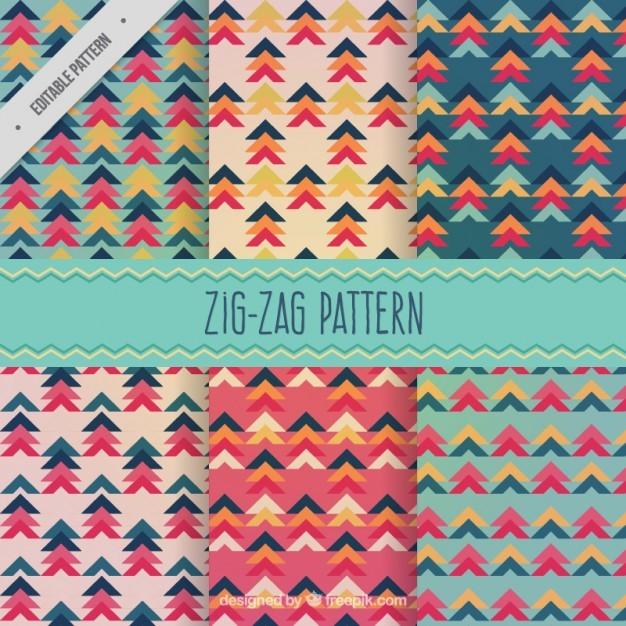 Zig-zag shapes patterns