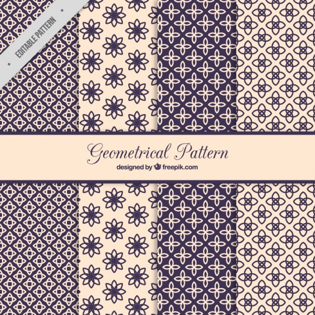 Floral geometric pattern collection