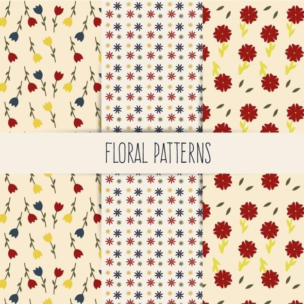 Floral Spring Minimalist Pattern Set