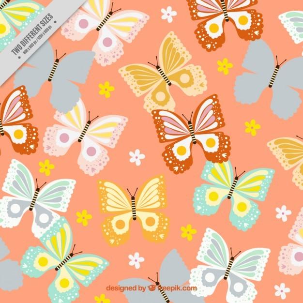 Background full butterflies
