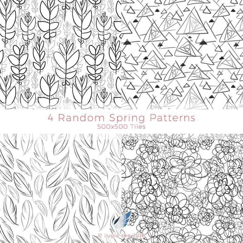 4 Random Spring Patterns