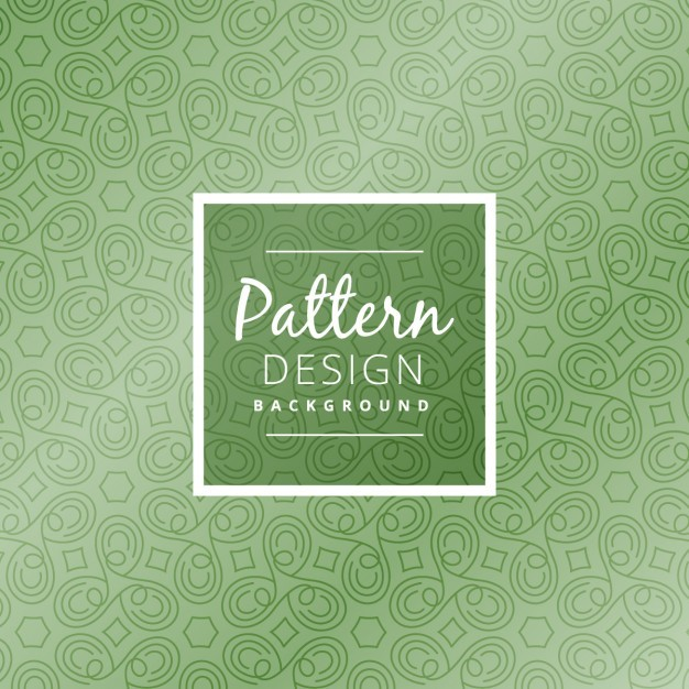green abstract shapes pattern design