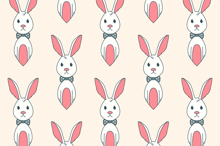 BUNNY VECTOR SEAMLESS PATTERN