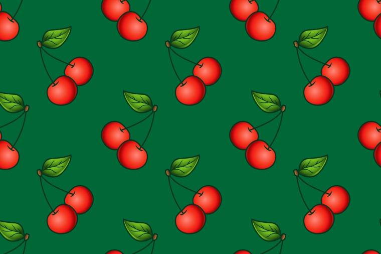 CHERRY FRUIT SEAMLESS PATTERN