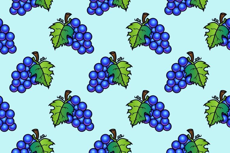 GRAPE FRUIT SEAMLESS PATTERN