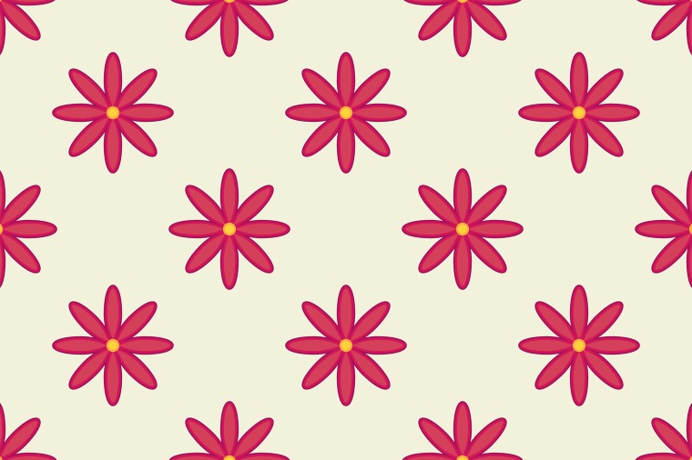RED FLOWER SEAMLESS VECTOR PATTERN