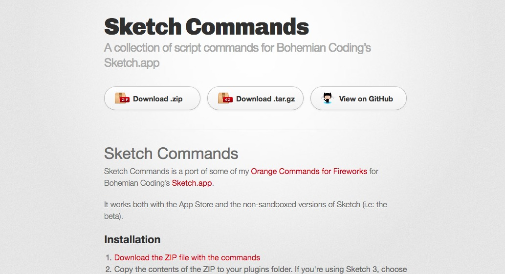 Sketch Commands