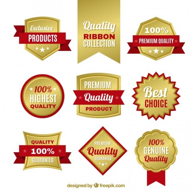 Golden quality badges