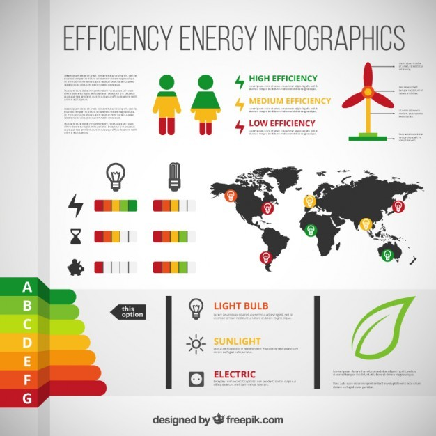 Efficiency energy infographic