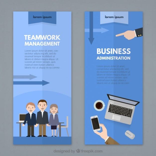 Teamwork flyer template