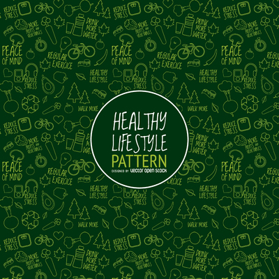 Green healthy lifestyle pattern