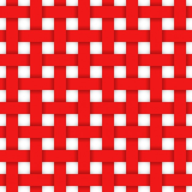 Red crossed ribbons pattern