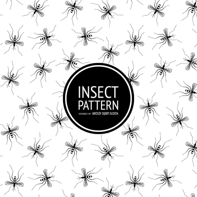Insect pattern in black and white