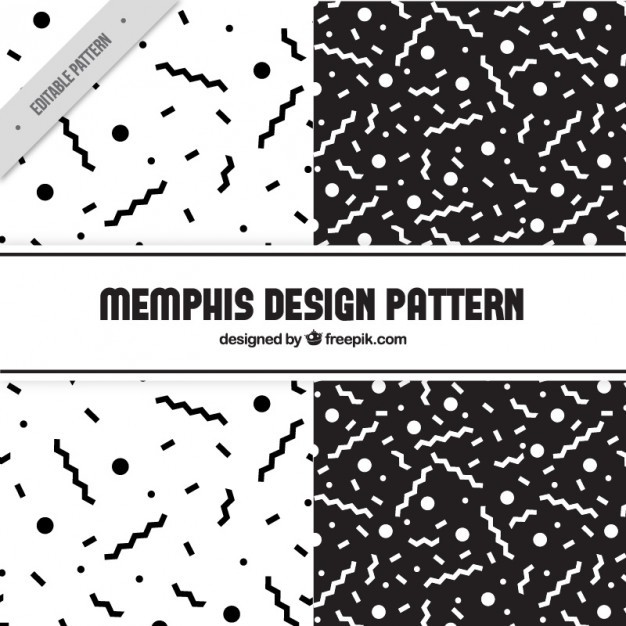 Geometric patterns in black and white