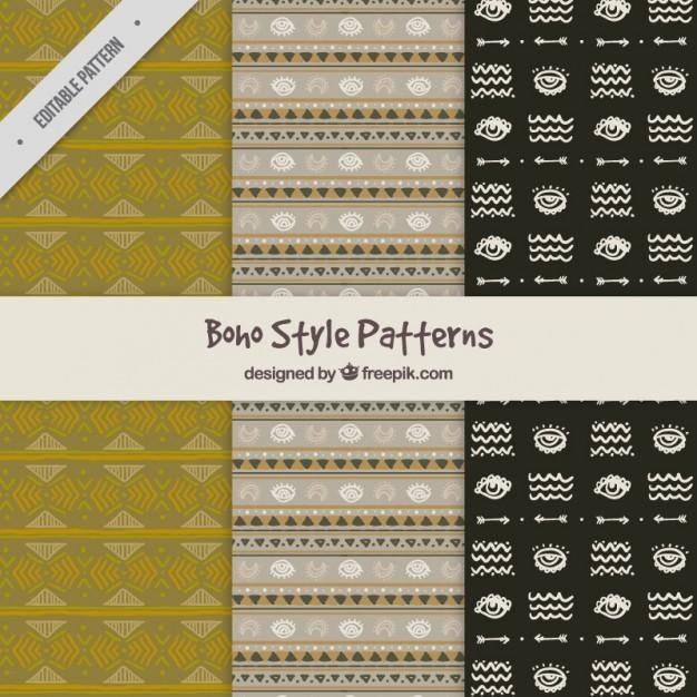 Ethnic boho style patterns