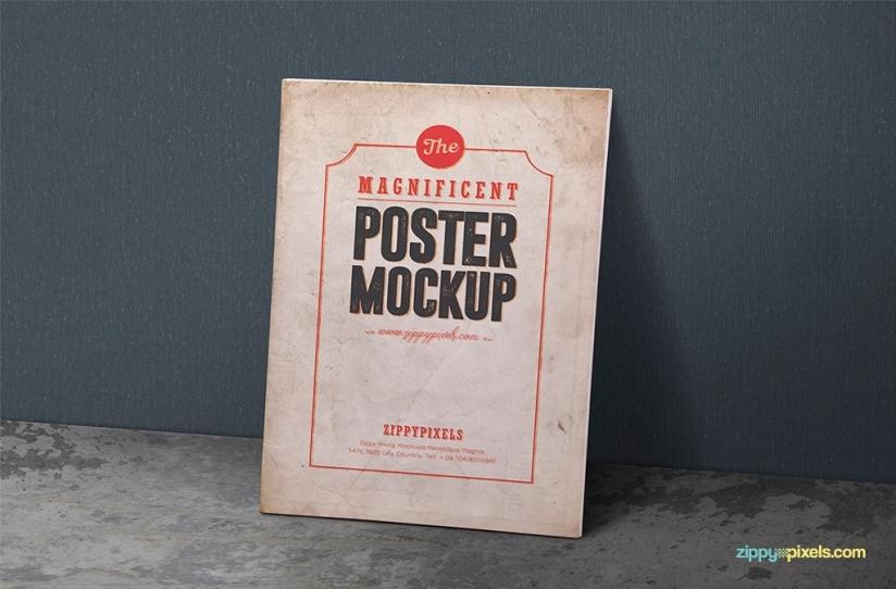 2 Free Vintage Poster Mockup PSDs