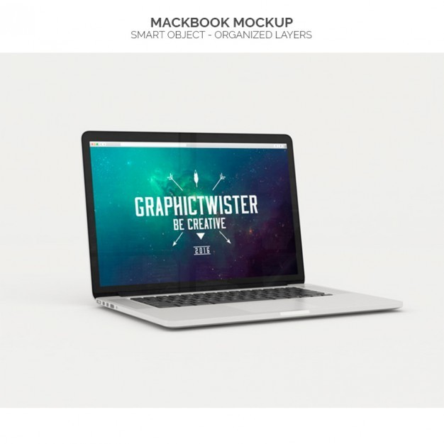 Realistic macbook mock up