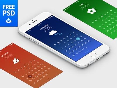 Free PSD Calendar App