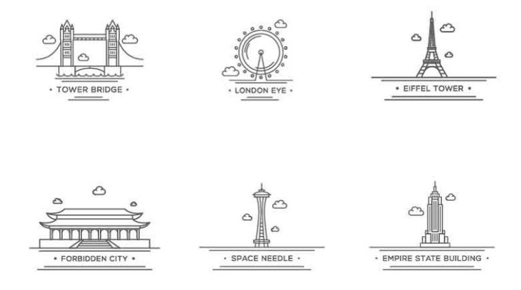 Free_World_Landmark_Icons_Vector_Set.png