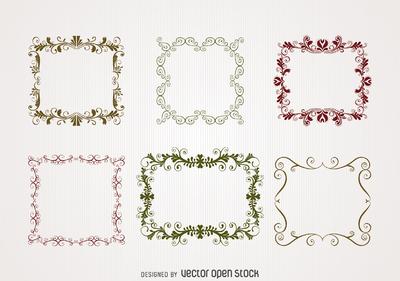 Illustrated swirl frame set