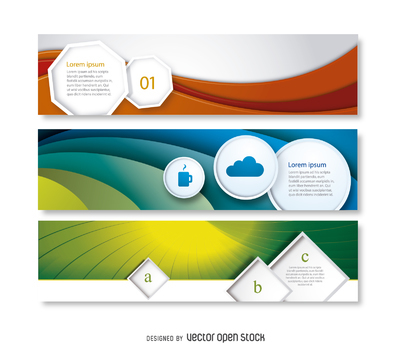 Abstract business banner set