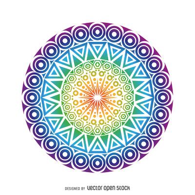 Circle mandala design