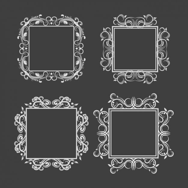 Silvery frames collection