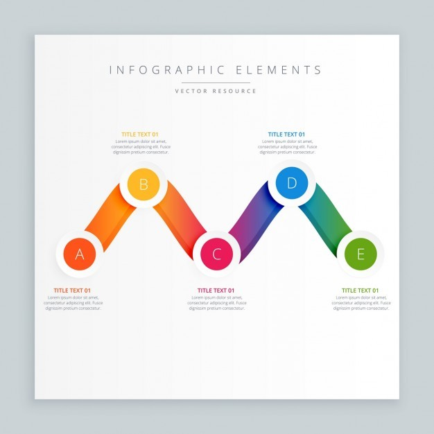 Colorful wavy infograph design