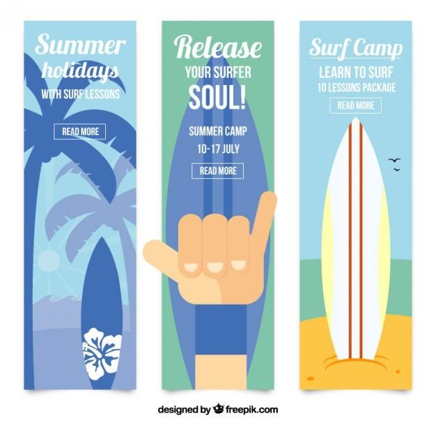 Nice surf banners set