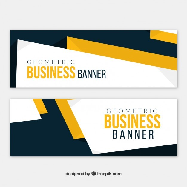 Company banners in abstract style