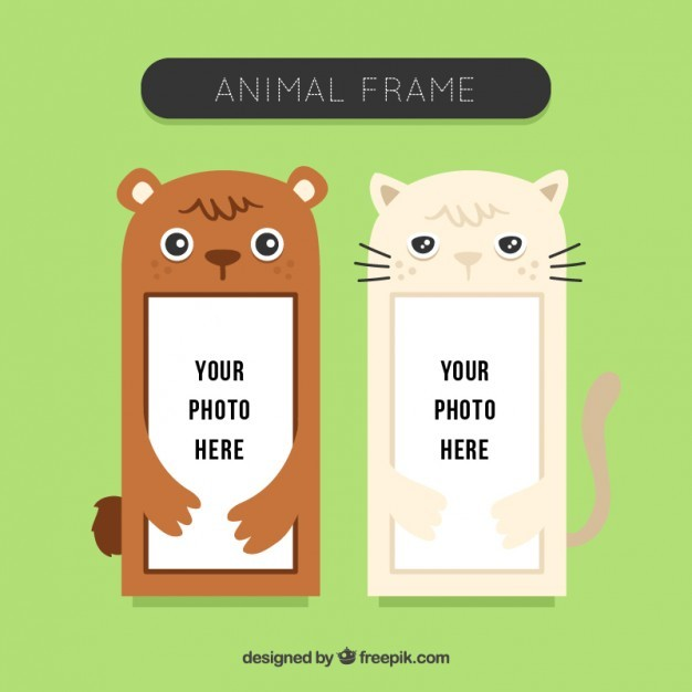 Nice animal photo frames set