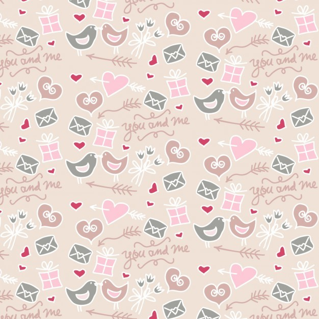 Coloured love pattern