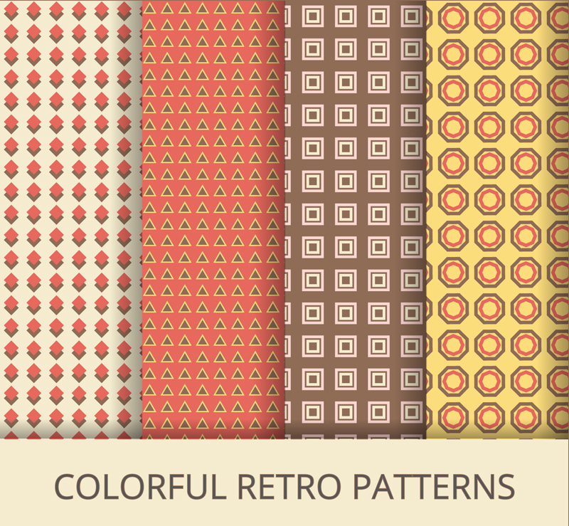 4 Simple Pattern Vector Background