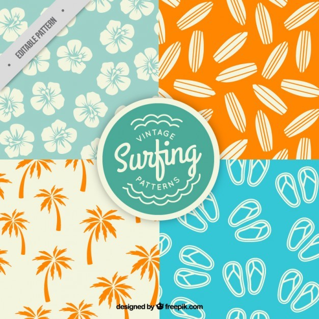 Patterns of surf elements pack