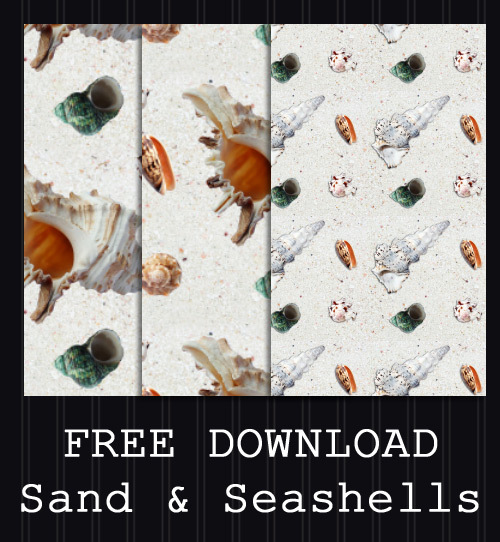 FREE DOWNLOAD - Sand + Seashells Pattern