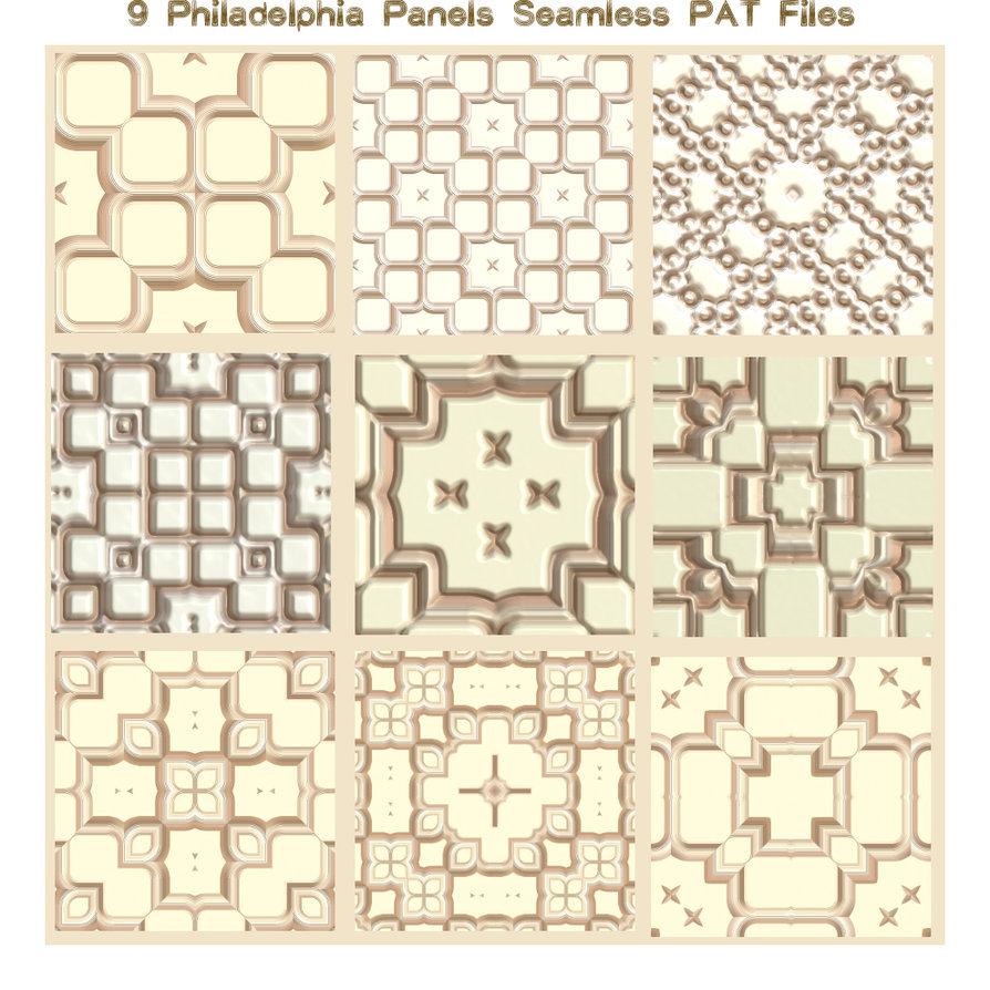 9 Philadelphia Panels Seamless Files