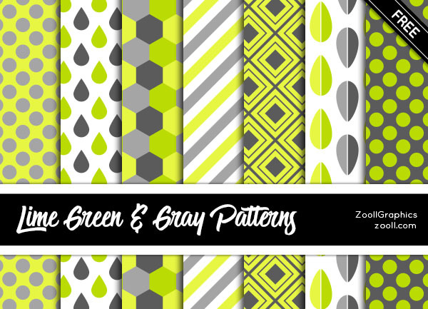 LIME GREEN AND GRAY PATTERNS
