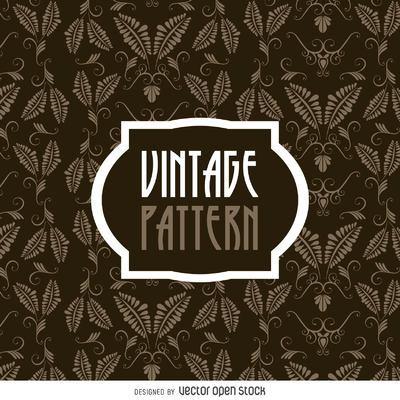 Vintage leaves pattern